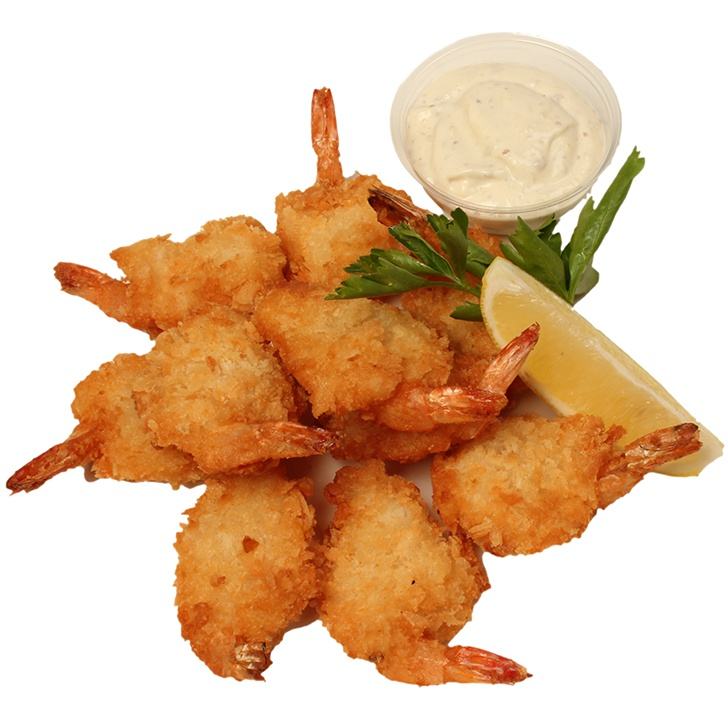 Butterfly crumbed tiger shrimps with remoulade sauce - 10 pieces