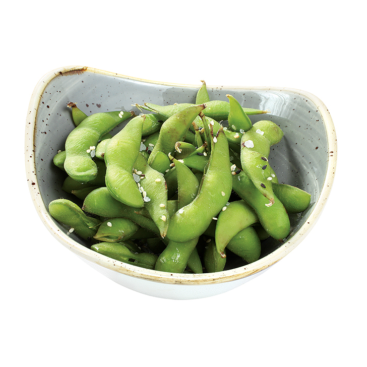 Edamame beans with sea salt and sesame