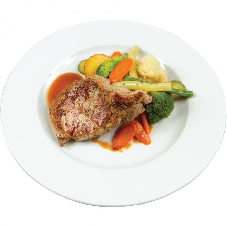 Garšaugos marinēts cūkas muguras steiks