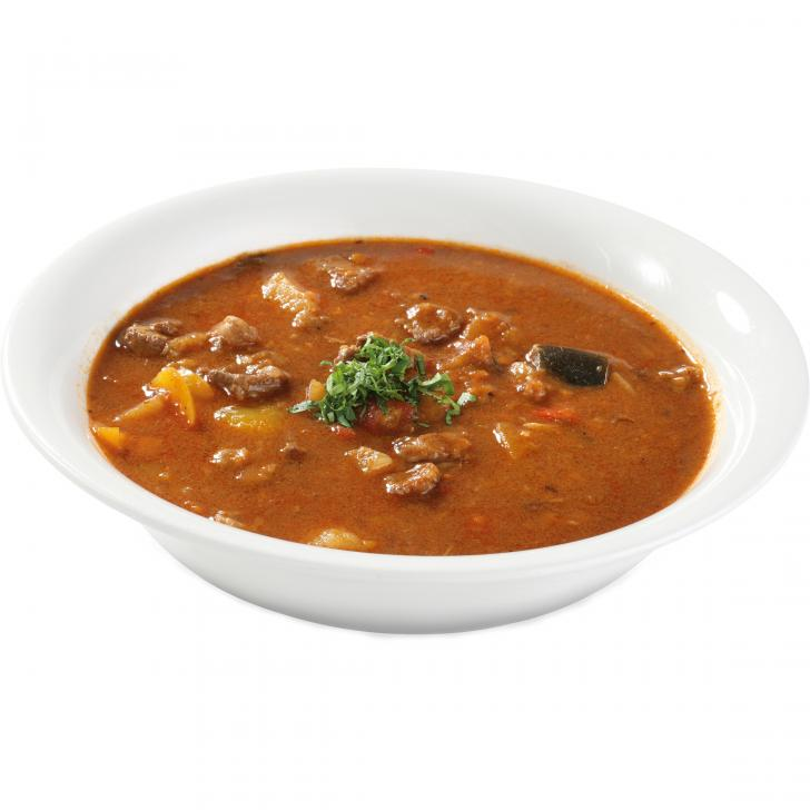 Goulash soup with lamb and rice