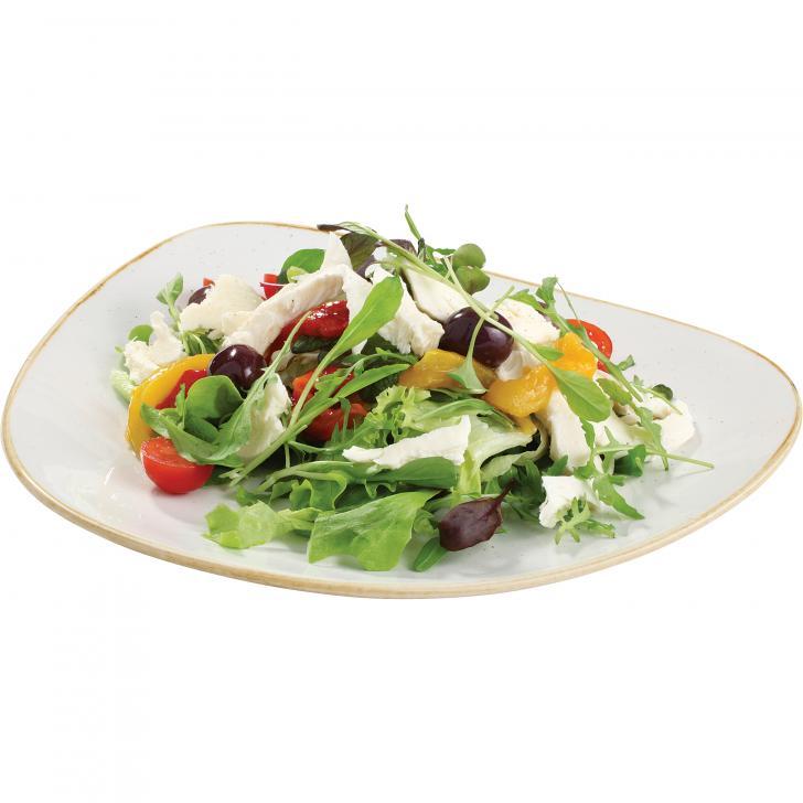 Lapu salātu izlase ar plūkātu mozarellu