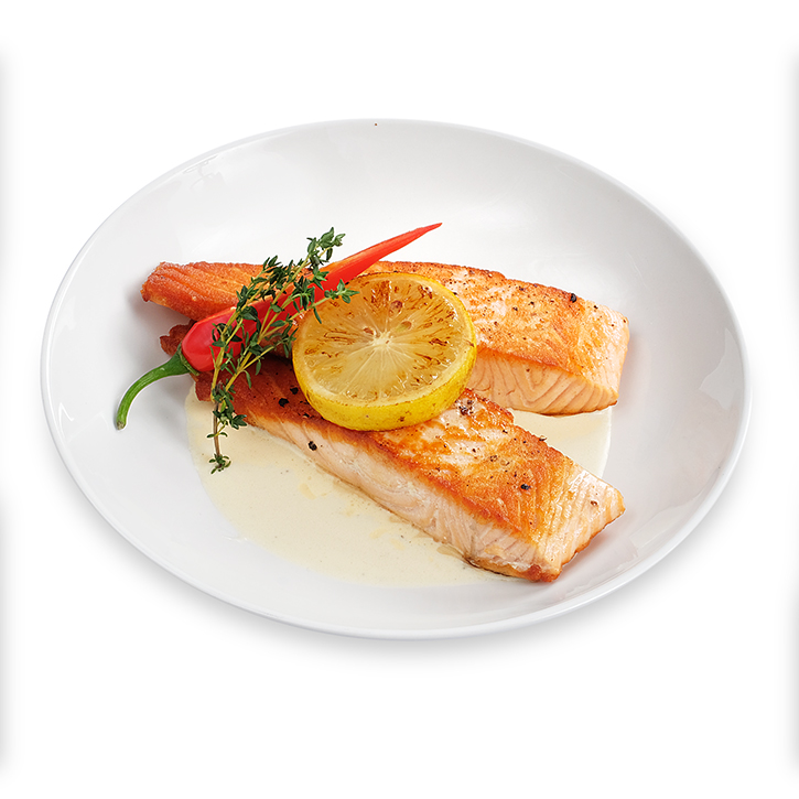 Salmon with white wine sauce (ready for cooking)