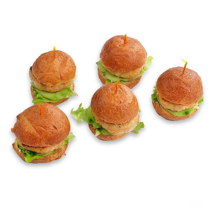 Mini burgermaizīšu komplekts