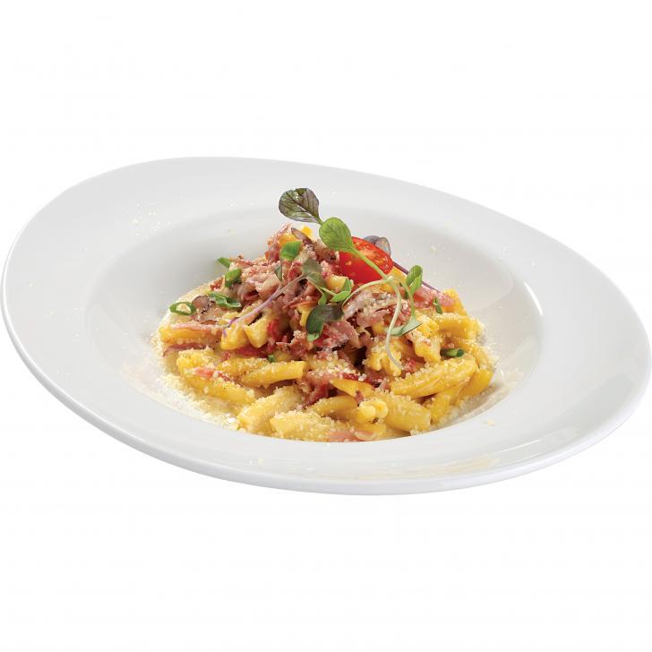 Pasta Carbonara with 3 types of ham