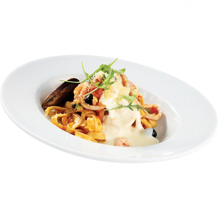 Pasta Tagliatelle with seafood