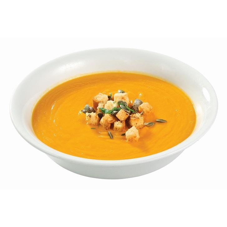 Солнечный овощной суп-пюре с жареными тыквенными семечками 400g