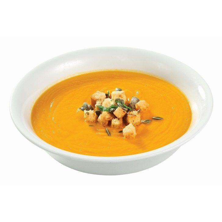 Sunny vegetable soup with roasted pumpkin seeds 400g