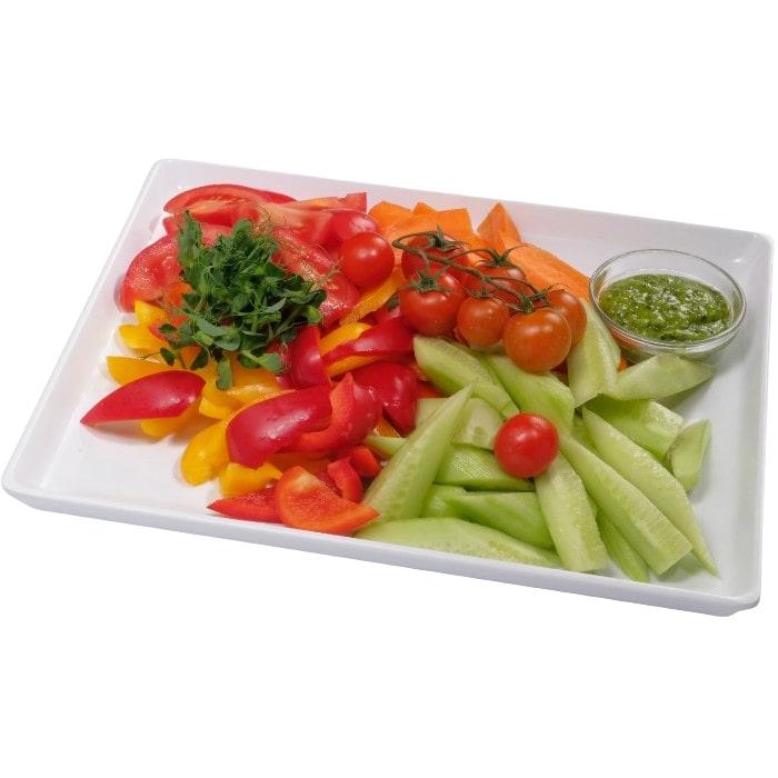 Fresh vegetable plate