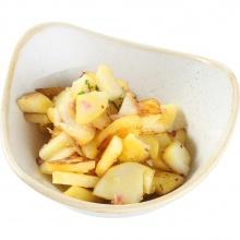 Жареный картофель с луком и беконом