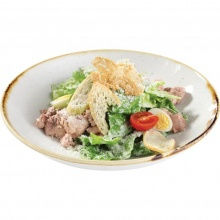 Caesar salad with cod liver