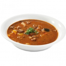 Lamb goulash soup with rice