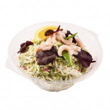 Cabbage and surimi salad