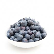 Bilberries with milk or vannila sauce