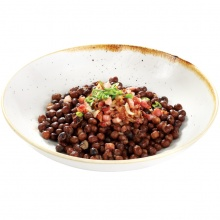 Grey peas with bacon