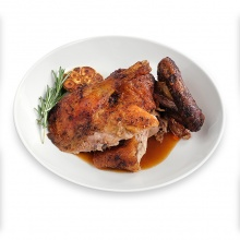 Roast duck with calvados sauce