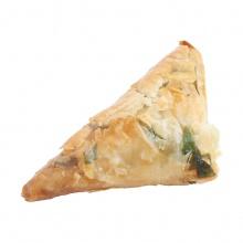 Spanokopita – Filo mīklas pīrādziņš ar Bree siera un spinātu pildījumu