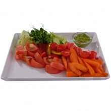 Fresh vegetable plate