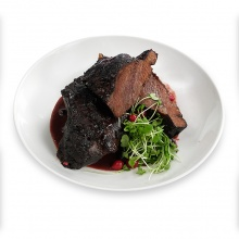 Veal cheeks with red wine sauce