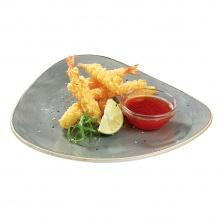 Tīģergarneles ceptas tempura ar saldo čili mērci