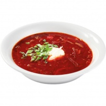 Traditional borsch with poultry