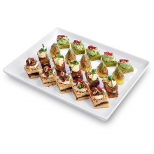Vegetarian canapes set No.6