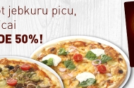 Read more - Order any pizza and receive 50 % discount for the second one!