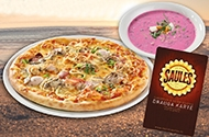 Read more - Order pizza and get soup for free!