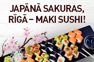 Read more - SAKURA`S THE TREND IN JAPAN, MAKI SUSHI - IN RIGA!